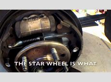 QUICK Clean Adjust rear brakes Toyota Tacoma √ YouTube