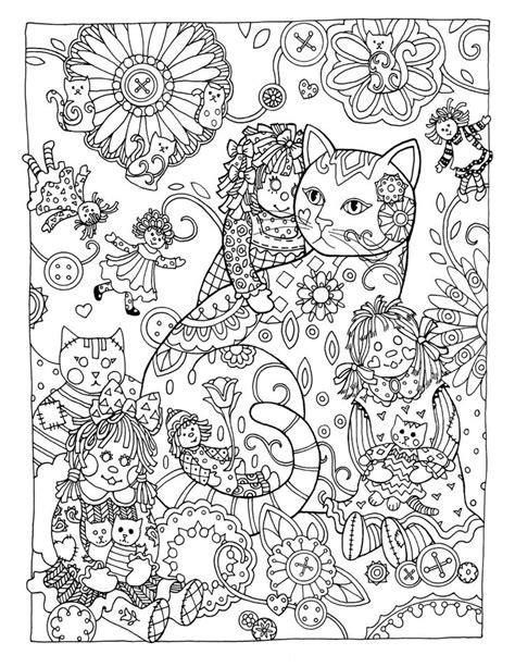 creative cats colouring book rag dolls  marjorie