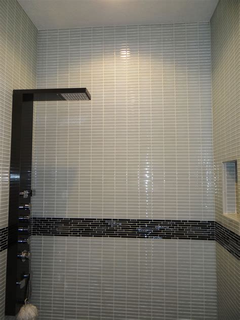 bathroom tiled shower wall panel with
