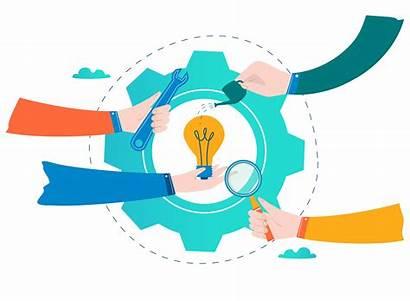 Clipart Business Problem Vector Development Coordination Solving