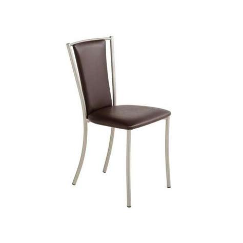 4 pieds chaise chaise de cuisine contemporaine en métal et vinyle reina