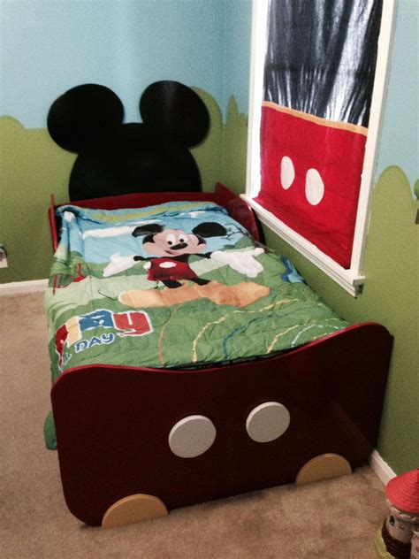 Our Todder Mickey Bed Micky Minnie Toddler Room In