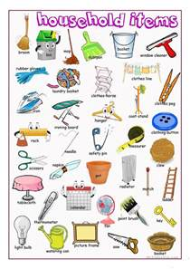 Household Worksheet Items