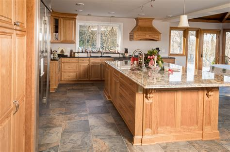 timeless natural cherry kitchen custom cabinetry  ken
