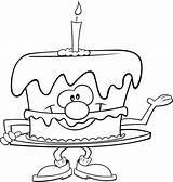 Coloring Pages Cake Para Colorear Pastel sketch template