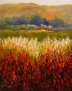 Santum Rosa Valley Shannon Grissom Wonderful Abstract Landscape Paintings