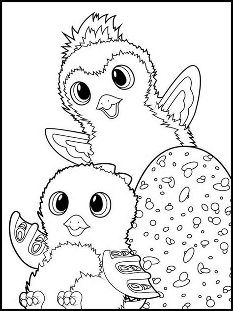 Kleurplaat Y by Kleurplaten Voor Kinderen Printen Hatchimals 9