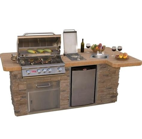 modular outdoor sink and side burners bull outdoor products bbq island w angus grill sink