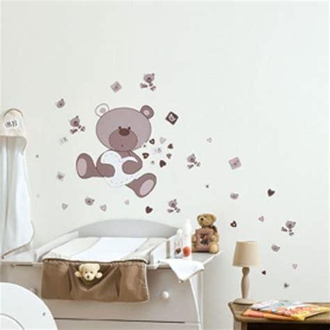 stickers chambre bébé personnalisé dessin pour chambre bebe 4 stickers chambre bebe ourson