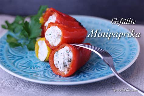 rezept gefuellte mini paprika