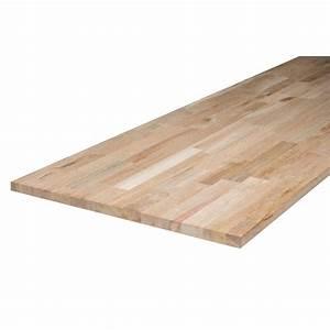 Plan De Travail Bambou : plan de travail bois ch ne brut mat x cm ~ Melissatoandfro.com Idées de Décoration