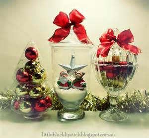 little black lipstick cheap dollar store christmas decor waterless snow globes