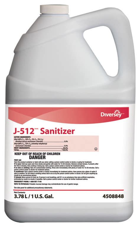 Vinclasse No Rinse Cleaner Sanitiser by J 512 Sanitizer 4x3 78l No Rinse Surface 1 Gal