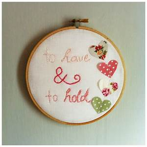 To have and to hold embroidery cross stitch wedding gift for Wedding gift ideas pinterest