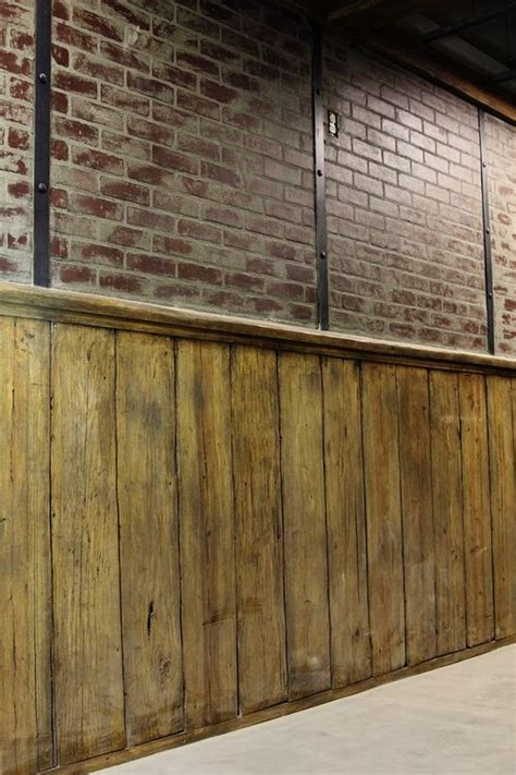 wood wall   wainscoting   paired
