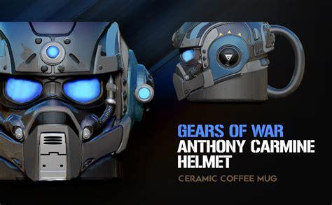 carmine gears anthony war helmet mug coffee ceramic amazon description