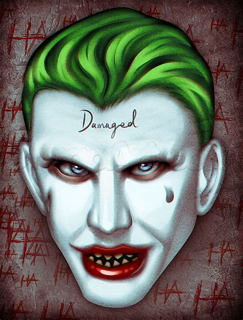 draw suicide squad joker easy step  step dc