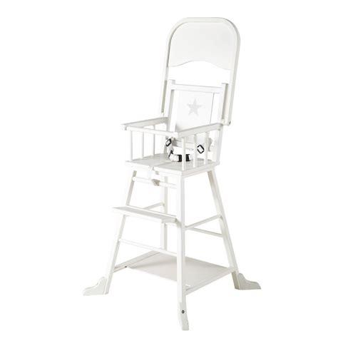 chaise haute bébé en bois chaise haute pour bébé en bois blanche songe maisons du monde
