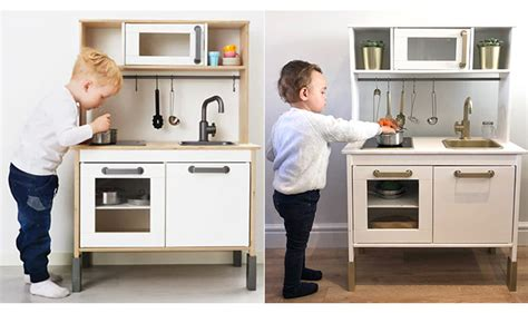 How To Turn Ikea's Duktig Play Kitchen Into The Chicest Toy