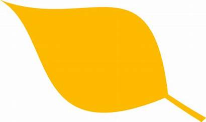 Leaf Yellow Simple Clipart Clip Leaves Vector