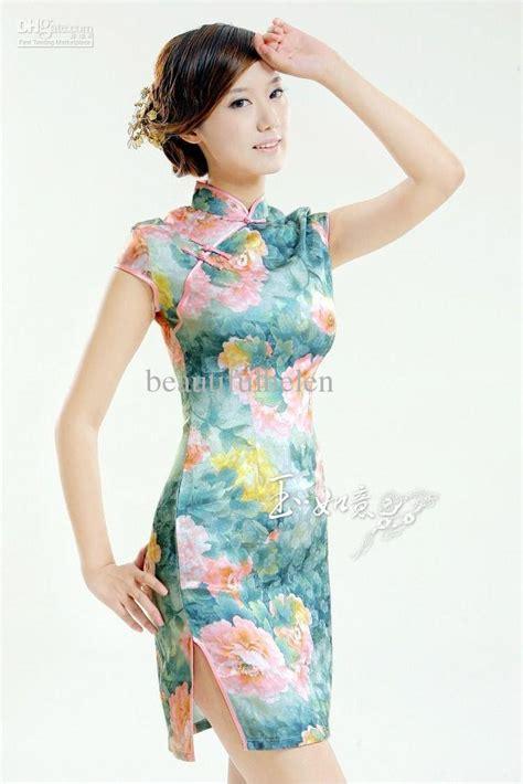 2017 Sexy Cheongsam Silk Cheongsam Dress Sexy Chinese Dress Cheong Sam Chinese Cheongsams From