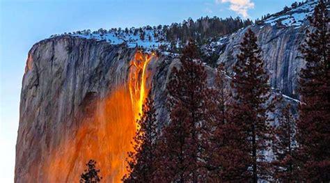 Yosemite Firefall Illuminates Waterfall Glow Like
