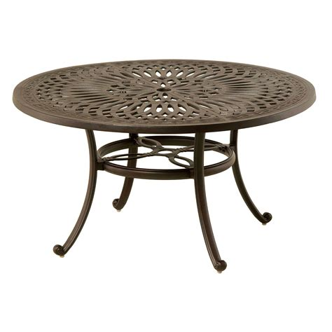 round patio coffee table hanamint mayfair 42 quot round coffee table outdoor furniture