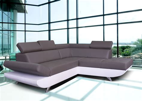 canapé d angle reversible convertible canapé d 39 angle simili cuir blanc pas cher