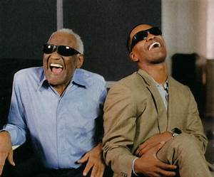 Ray Charles and Jamie Foxx. Ray Charles passed away before ...