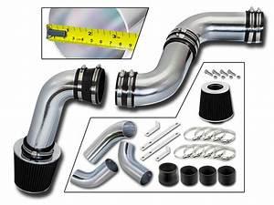 3 5 U0026quot  Black Cold Air Intake Kit   Filter For 99 Sierra 1500 4 3l V6
