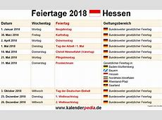 Feiertage Hessen 2019, 2020 & 2021 mit Druckvorlagen