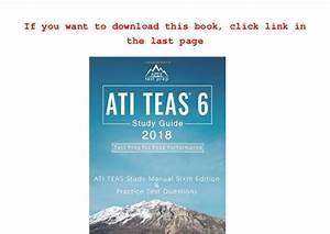 About For Books Ati Teas 6 Study Guide 2018  Ati Teas