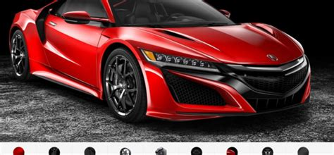 new acura nsx configurator is out dpccars