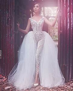 editors look of the day sadek majed couture overskirt With jumpsuit wedding dress