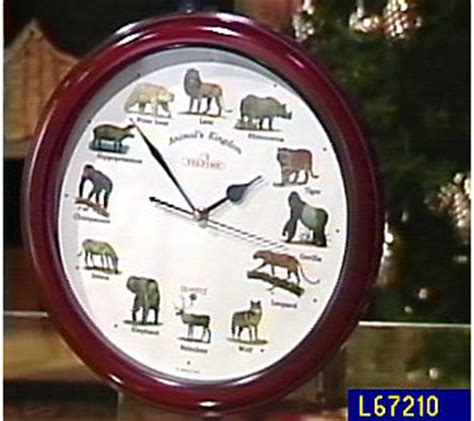 wild animal wall clock  animal sounds qvccom