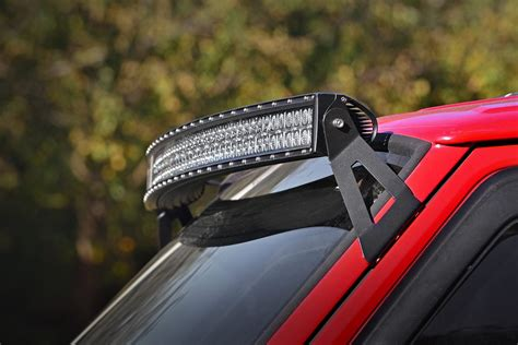 50in curved led light bar windshield mounting