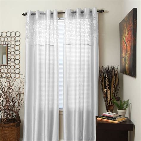 kohls white sheer curtains grommet sheer curtains kohl s