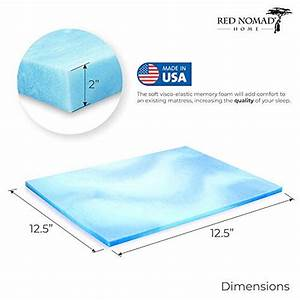 Visco Gel Topper : red nomad king size 3 inch thick ultra premium gel infused visco elastic memory foam mattress ~ Eleganceandgraceweddings.com Haus und Dekorationen