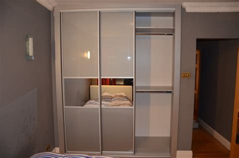grey glass mirror strips sliding doors closet richmond tw