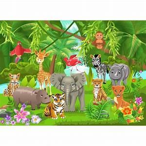 Stickers Animaux De La Jungle : stickers enfant g ant animaux jungle art d co stickers ~ Mglfilm.com Idées de Décoration