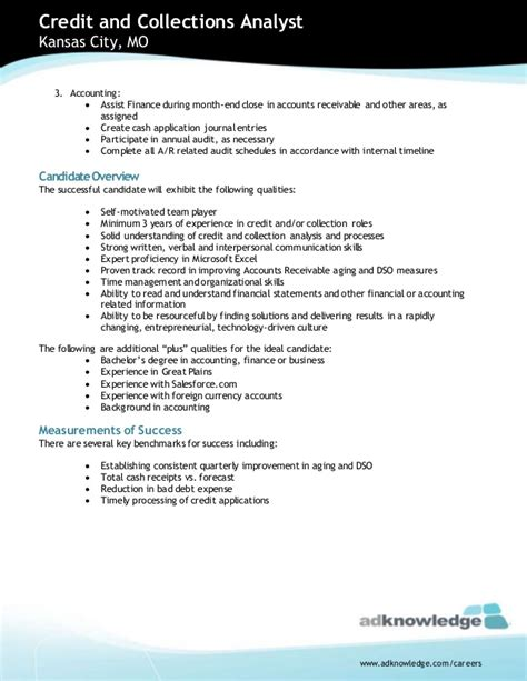 Credit & Collections Analyst Job Opportuniy