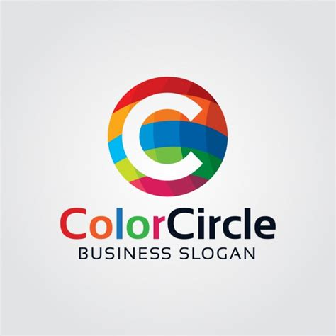 Abstract Colorful Letter C Logo Vector