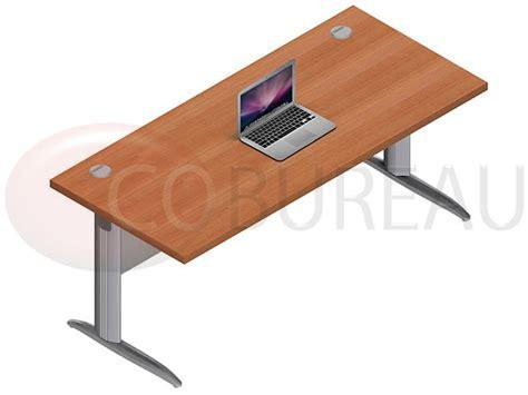bureau pro bureau droit pro métal 180 cm pieds en forme i