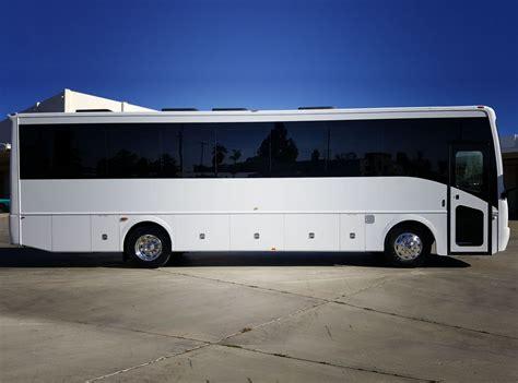 Limo Coach by 32 Passenger Limo Coach Rental Santos Vip Limousine