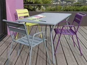 Salon De Jardin En Rotin Leroy Merlin : mobilier de jardin metal table de jardin en rotin maison ~ Premium-room.com Idées de Décoration