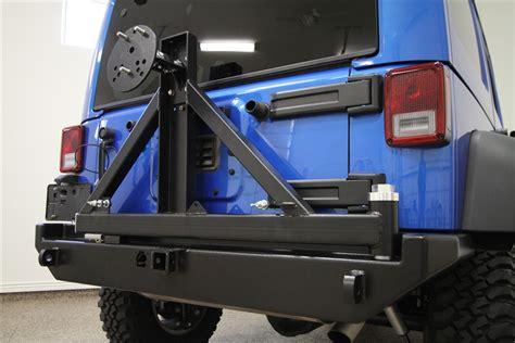 rock hard  patriot series rear bumper  tire carrier  jeep wrangler jk dr
