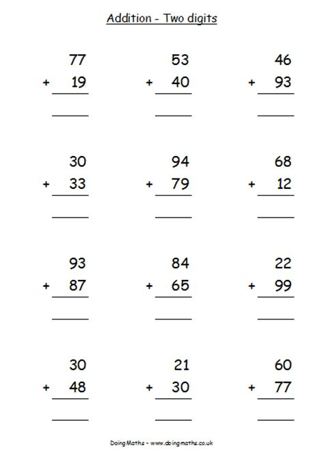 subtraction column method worksheets addition and