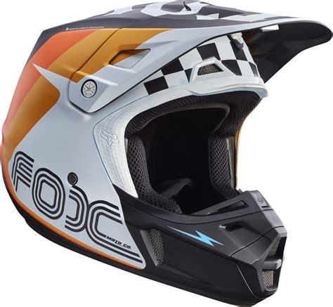 fox motocross helm 350 race ece kinder motocross helm blau orange s