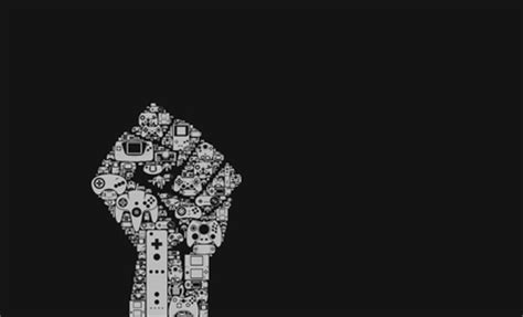 video games fist typography controllers  wallpaper