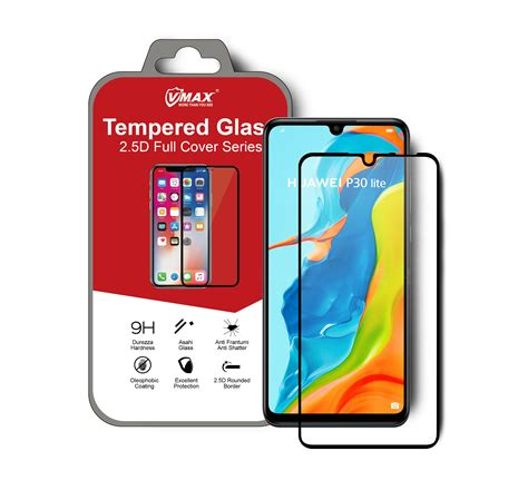 Huawei P30 Lite 2.5D Full Cover Tempered Glass Screen